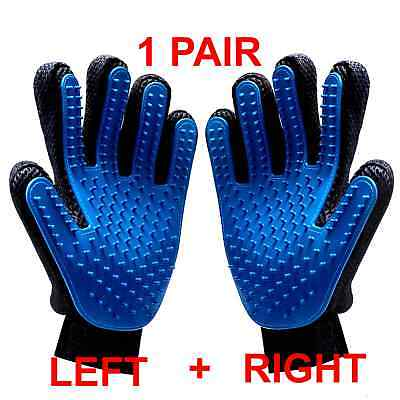 RANDOM PAIR Pet Dog Cat Grooming Glove Dirt Hair Remover Brush Glove for Gentle