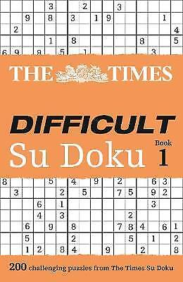 The Times Difficult Su Doku Book 1, Wayne Gould
