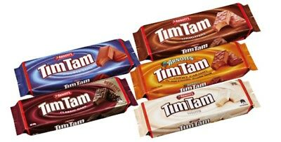 4x ARNOTT Tim Tam's, Original, Chewy Caramel or Double Coat, 4x 200g