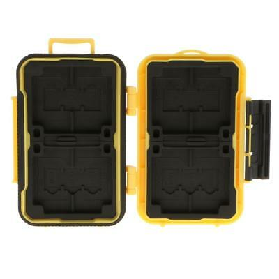 SD CF TF Card Storage Case Holder Protective Box Water Resistant - Yellow