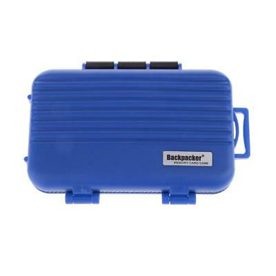 SD CF TF Card Storage Case Holder Protective Box Water Resistant - Blue