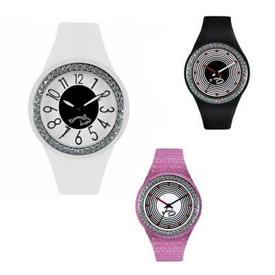 Orologio Donna BRACCIALINI TUA Silicone Colorato Bianco Nero Rosa Swarovski NEW