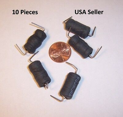 10 Pcs  Axial Inductor Power Choke 1000uH 1mh  0.8A  .8ohm  USA Seller Free Ship