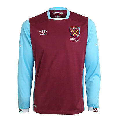 Official Umbro West Ham United Junior Home Shirt 2016/17, Size: SB (7-8 Years)