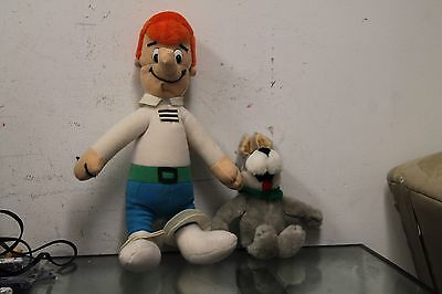 1989 George Jetson from The Jetsons Stuffed Doll by Nanco 18 inches + dog