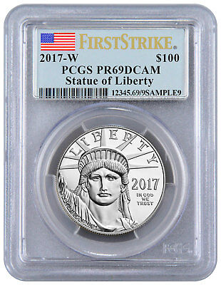2017-W 1 oz Platinum Eagle Proof $100 PCGS PR69 FS DCAM Flag Label SKU48329