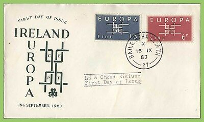 ?Ireland 1963 Europa set u/a First Day Cover