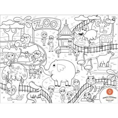 Prince Lionheart Zoo Colour And Draw Placemat