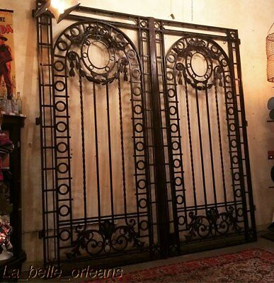 19th CENTURY HAND FORGED WROUGHT IRON GATES / DRIVEWAY. BEST ON EBAY. MUST SEE!