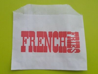 "French Fry Bag, 4.5"" x 3.5"", Grease Resistant Printed Paper 1000/case"