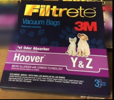 Hoover Y & Z   Highest Quality 3M Filtrete SHIPS FAST!   1 Bag