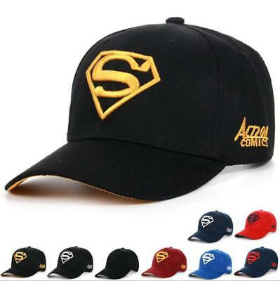 0857f95cc5d44 2018 Men Women Super Man Baseball Cap Snapback Hat Hip-Hop Adjustable Bboy  Caps