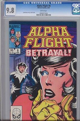 Alpha Flight #8 CGC 9.8 Marvel 1983 John Byrne art, story and cover: Price Drop!