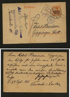 Lithuania , German occupation,   nice postal  card  1918              KL0917