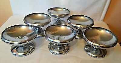 antique silver plated ice cream cups dessert cups set of 6 benedict indestructo