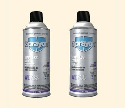 Stainless Steel Spray Coating (2) 12 oz Aerosol Cans Metal Corrosion Protectant
