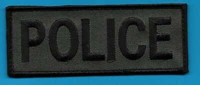 "Police Tab Black And Green With Velcro®  On Back 2"" By 5""1/4 Local State County"
