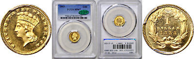 1883 One Dollar Gold Coin PCGS MS-67 CAC