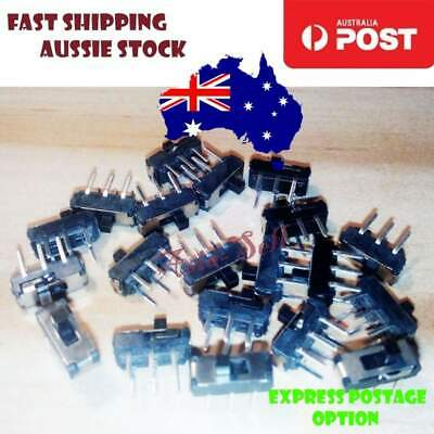 20pcs On/Off/On DPDT 2P2T 6 Pin Vertical DIP Slide Switch 9x4x3.5mm 10% off 2+