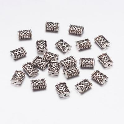 Tibetan Style Antique Silver 7mm Celtic Infinity Knot Spacer Bead Lot of 10 Pcs