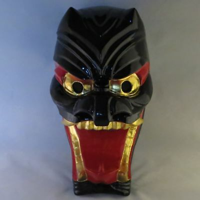 Japanese Mask Buryu Demon Noh Samurai Oni hannya wood lacquered Hand carving