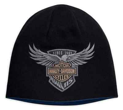 139896bdfd032 ... spain boston red sox beanie hat 99009 harley davidson 115th anniversary  mens reverse knit hat limited