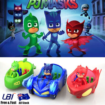 PJ Masks Toy Car Action Figure Catboy Owlette Glider Gekko Mobile 2017 Toys +Box