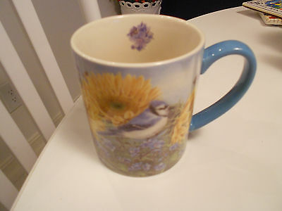 "Summer Blue Jay Mug-Jane Shasky-Vg+ 4"" High"