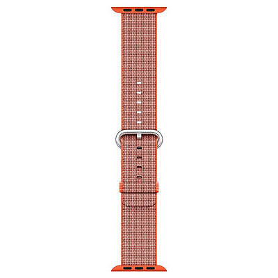 Genuine Apple Woven Nylon for Apple Watch 42mm Space Orange/Anthracite - Used