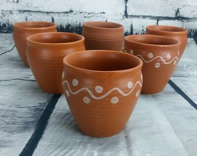 Mini Clay Pots Seed Starting Terracotta Ceramic 6ct Succulents Herbs