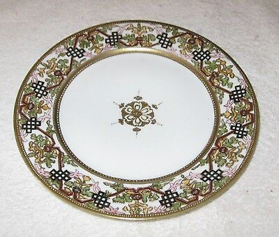 ANTIQUE/VINTAGE DECORATIVE HAND Painted Nippon China Dish Gold Trim ...
