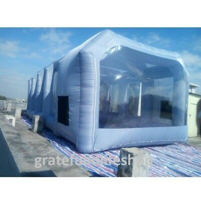12x5x4m Inflatable Spray Booth Custom Tent Car Paint Booth Inflatable Car