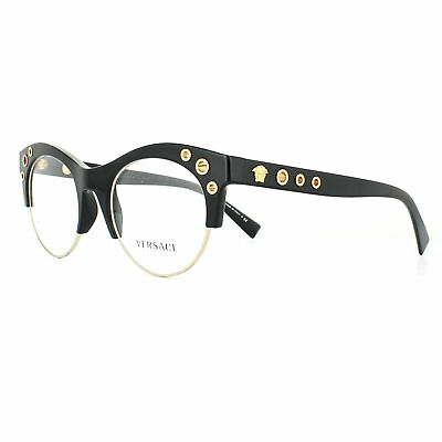 VERSACE GLASSES FRAMES 3232 GB1 Black Gold 52mm Womens - $141.00 ...
