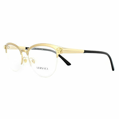 VERSACE GLASSES FRAMES 1235 1352 Brushed Gold 53mm Womens - £99.00 ...