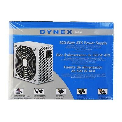 Dynex 520-Watt ATX Power Supply Computer Component DX-520WPS for Intel and AMD