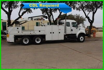2012 Freightliner M2 white Used Utility /Service Truck with 6000 lbs cap. crane