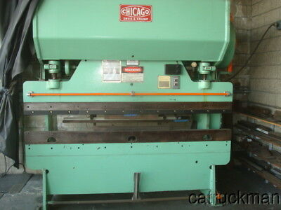 Chicago D-K, 8 ft. x 55 Ton 68B Press Brake W/ Tooling - recent paint & bearings