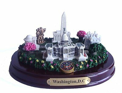 Oval Washington, D C Monuments Desk Statue 5.5 Inches Wide NEW, Free Shipping