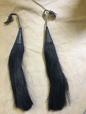 Original Victorian/WW1 British Army Seaforth Gordon Long Hair Sporran Tassels x2