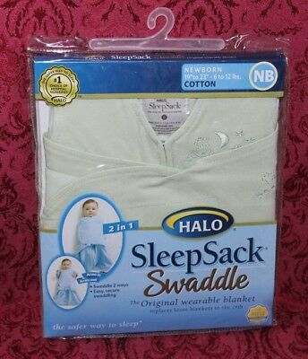 NEW HALO Sleepsack Swaddle wearable cotton blanket