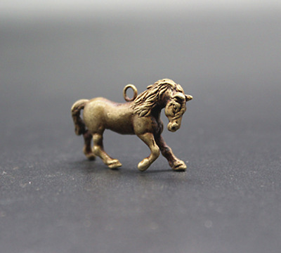 Old Chinese  Pure copper  Horse  Key chain  Pendant  Collection