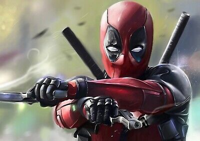DEADPOOL Movie PHOTO Print POSTER Film Ryan Reynolds Marvel Textless Glossy 012