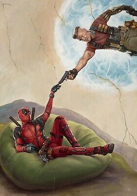 DEADPOOL 2 Movie PHOTO Print POSTER Film 2018 Ryan Reynolds Marvel Cable Wade 01