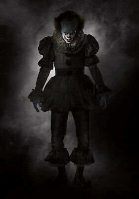 IT Movie PHOTO Print POSTER 2017 Textless Art Pennywise Stephen King Clown 004