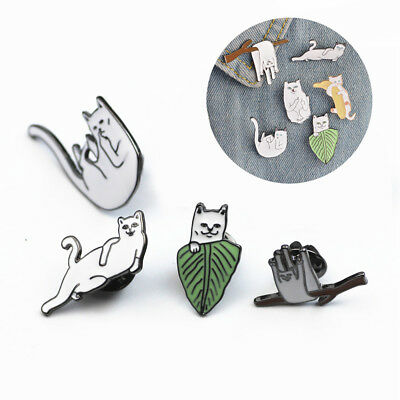 Cute Cat Brooches Pins Oil Drip Badge Corsage Cartoon Brooch Jewellery Gifts
