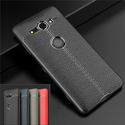 For Sony Xperia XZ2 Compact Protective Leather Soft Case Bumper Pattern Cover