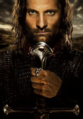LORD OF THE RINGS; RETURN OF THE KING Movie PHOTO Print POSTER Film Aragorn 003