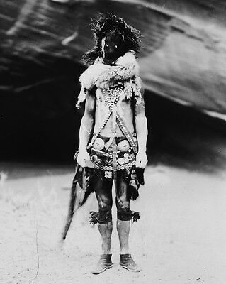 New 11x14 Native American Photo: Nayenezgani, Navaho Indian in Mask and Costume