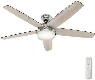 Salido 60 in led indoor brushed nickel ceiling fan with light 60 inch led indoor brushed nickel ceiling fan light remote control large room aloadofball Gallery