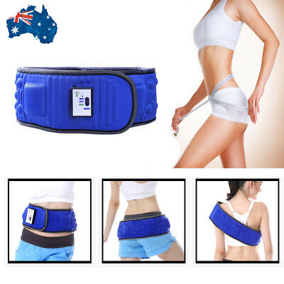 Electric Abdominal Vibra Vibration Massager Belt Slimming Tummy Body Weight Loss